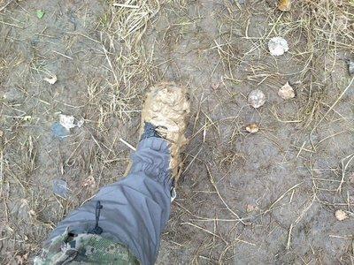 это мы дошли до первой точки, нам надо оборонять ее, так выглядела обувь
